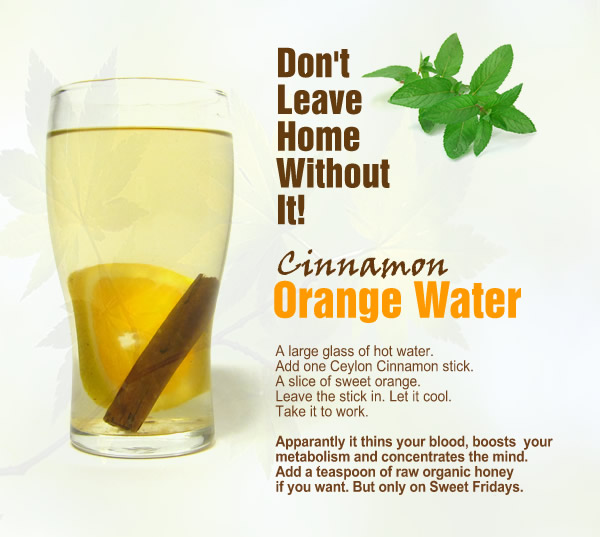 Cinnamon orange water